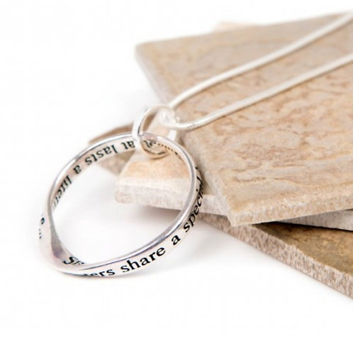 Message necklace - sisters bond