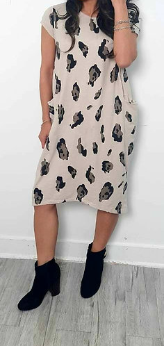 Animal print pocket dress - Choice of colours