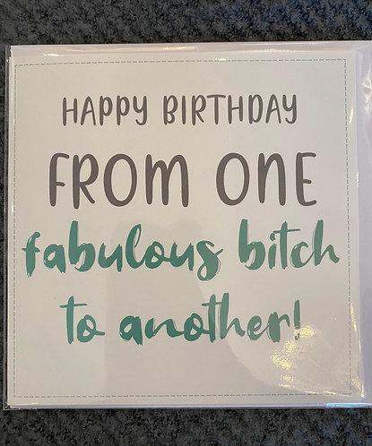 Birthday card - choice