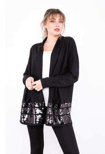 Sequin cardigan - Black