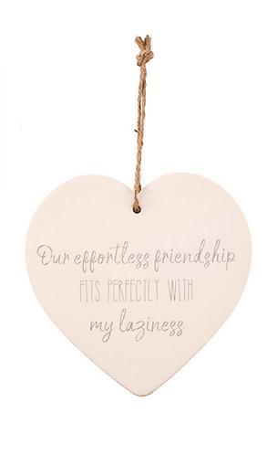 Heart hanger - Effortless friendship