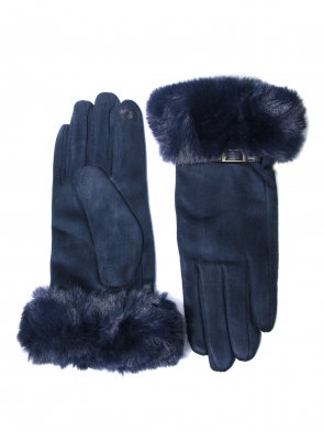 Envy buckle Gloves - Gift Boxed - navy