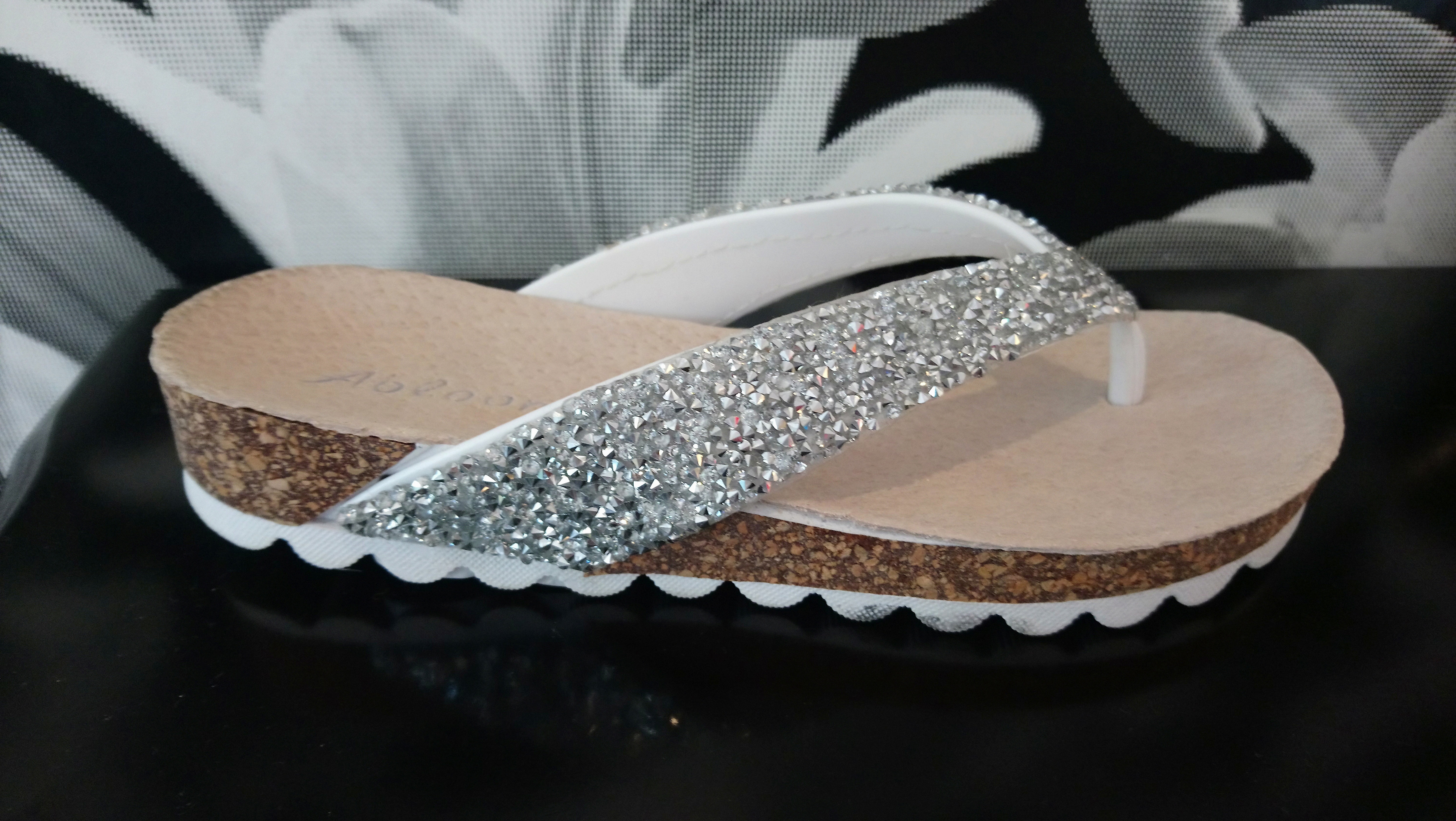 52b1821af979 Sliver sparkle flip flops with chunky glitter and super comfy raised sole. These  really are the most comfy flip flops ever!