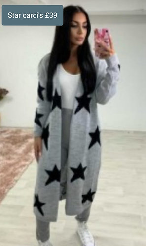 Star Cardigan - Choice of colours