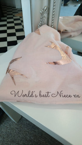 Message Scarf - Worlds best Neice