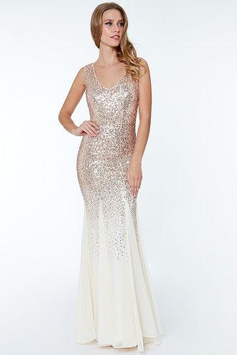 Sequin Maxi dress - Champagne
