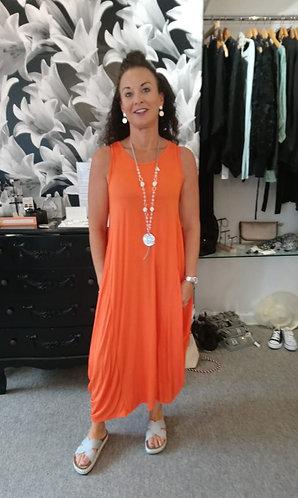 Parachute dress- Orange