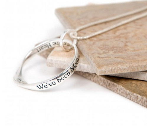 Message necklace - mother daughter