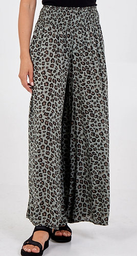 Animal print wide leg trousers - Choice of colours