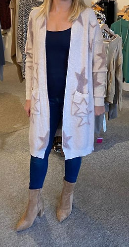 Fluffy star cardigan- choice of colours