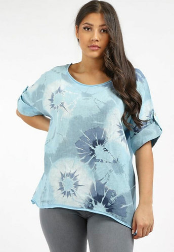 Floral shadow print top - Choice of colours