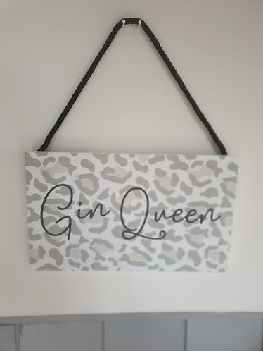 Gin Queen Plaque
