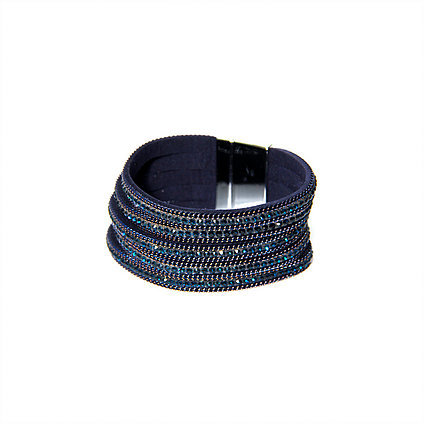 Envy Navy sparkle wrap Bracelet