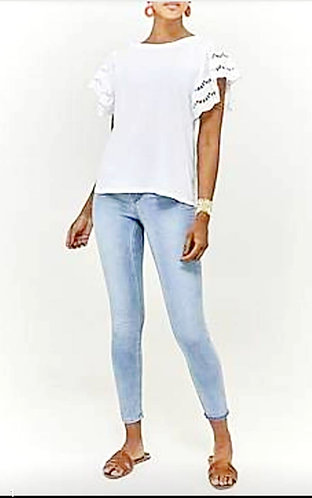 Frill Arm T Shirt - Choice of colours