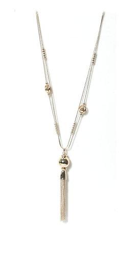 Envy tassle necklace - pale gold