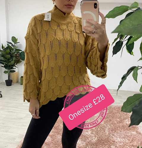 Scallop knit jumper - choice of colours
