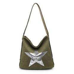 Star Bag - Khaki /Silver Star