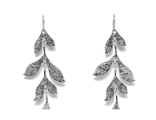 Envy falling leaf earings - silver