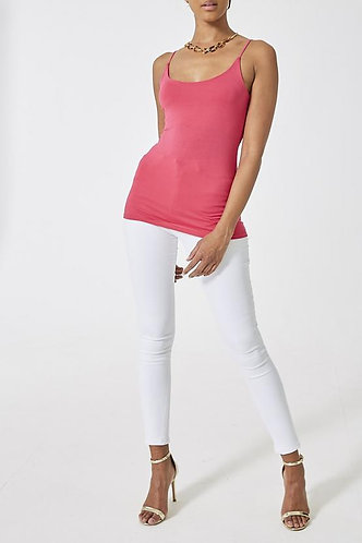Strappy Vest Top - Fushia Pink