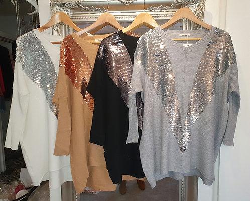 Sequin jumper - various colours