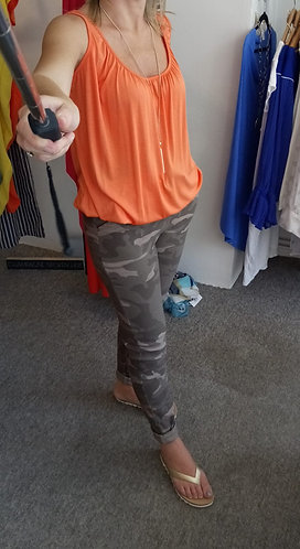 Stretchy camo trousers - various colours