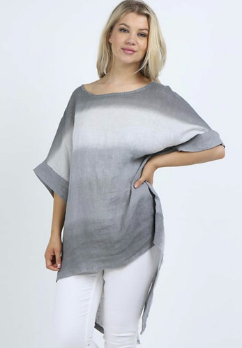 Tie dye, hi low tunic top - choice of colours