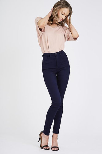 Super Stretch High Waisted Jeans -Navy