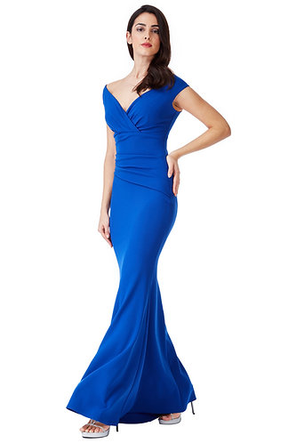 Bardot maxi dress - Royal blue