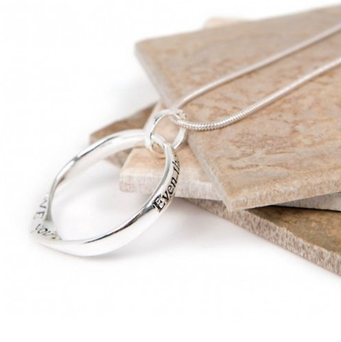 Message necklace - far apart heart