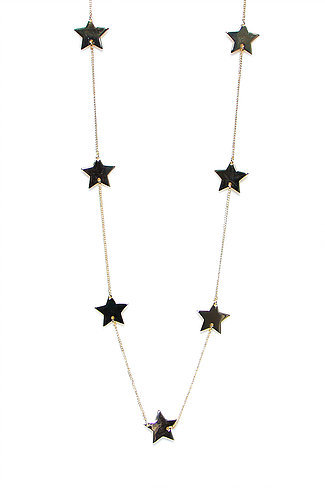 Star Neclace - pale gold