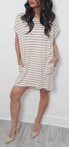 Striped pocket dress - Choice of colours