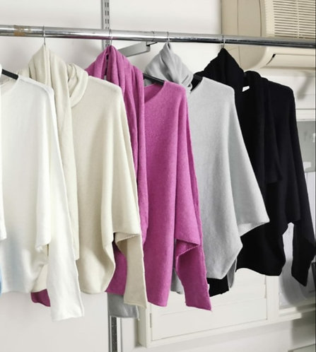 Batwing scarf jumper - Choice of colours