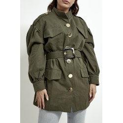 Belted Utility Jacket - Khaki