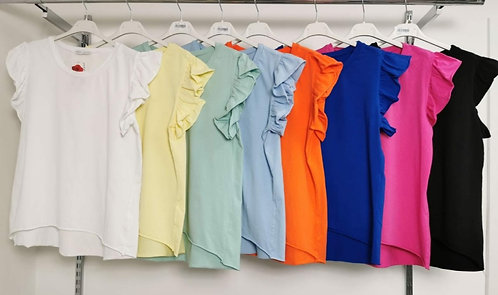 Frill cotton T' Shirt - Choice of colours