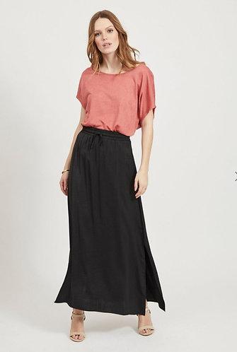 Vila summer maxi skirt - black