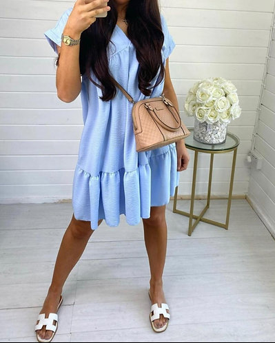 Short tiered dress - various colours
