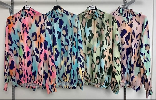 Colorful animal print top - Choice of colours