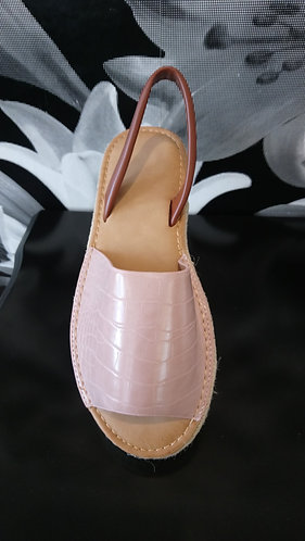 Platform menorcan style shoe - Pink