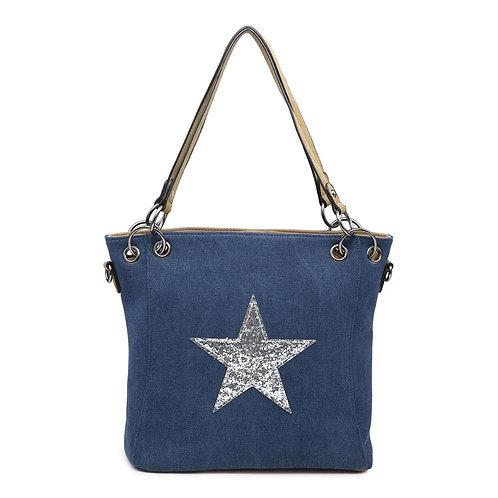 Star Bag - Navy/Silver Star