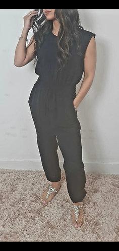 Elasticated waist  jumpsuit - choice of colours
