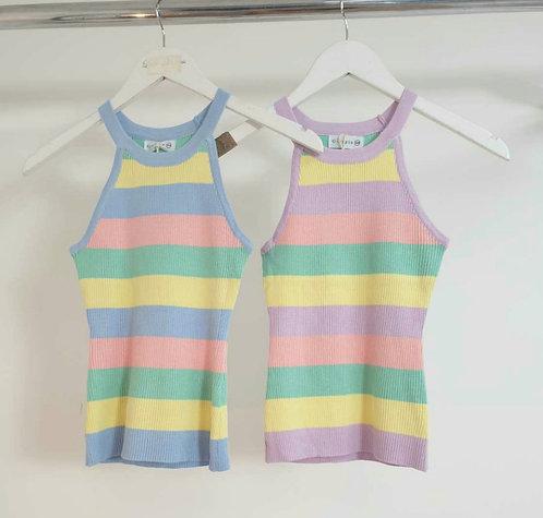 Stripe vest - Blue or Lilac