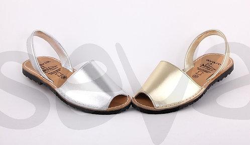 Menorcan Sandals - Plain Silver