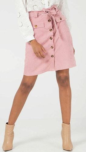 Cord button front skirt - choice of colours