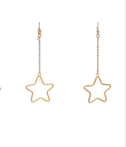 Star drop earings - Gold