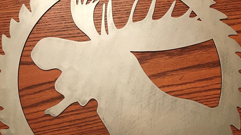 Moose circle saw medallion