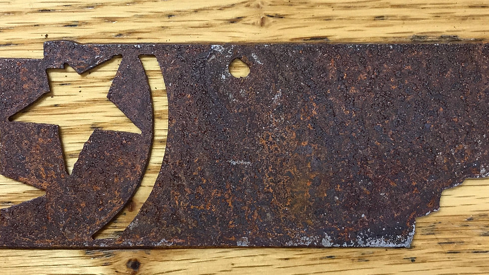 Tristar state ornament rusted