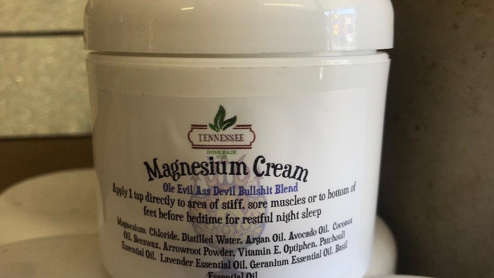 Magnesium Cream 4oz.