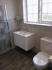 White gloss wall hung basin