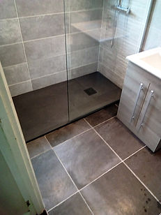 Graphite shower tray 1600x800