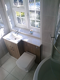 Basin vanity and WC combination unit